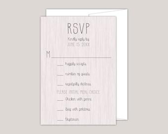 Rustic Modern Wood RSVP Card