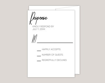 The Signature Wedding RSVP Card