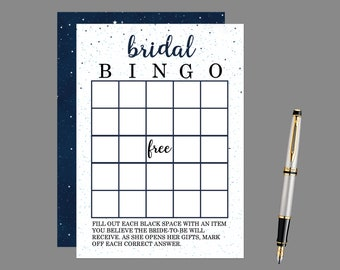 Starry Night Bingo Bridal Shower Game