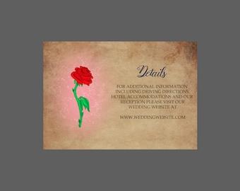 Enchanted Rose Enclosure Card
