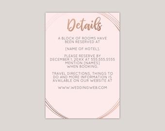 Rose Gold Geometric Oval Enclosure Card