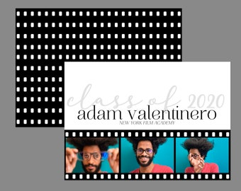 Film Strip Modern Photo Graduation Announcement or Graduation Invitation
