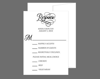 Simple Elegence Classical RSVP Card