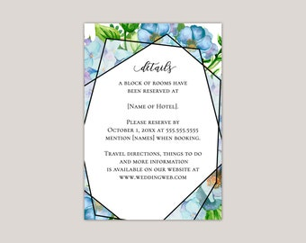 Blue Hydrangea Garden Enclosure Card