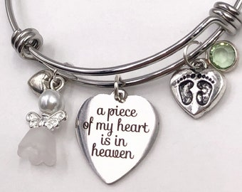 Loss of Child Silver Memorial Bracelet Jewelry Gifts, Includes Your Choice of 12 Different Sterling Silver Birthstones