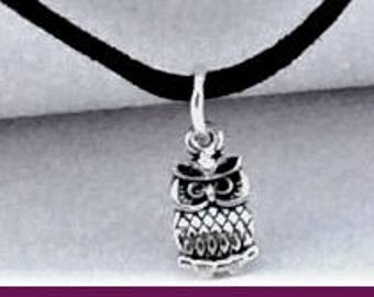 Owl Choker, black choker, choker necklaces, charm choker, cord choker, double choker, thin chokers, boho chokers, popular 90's retro  choker