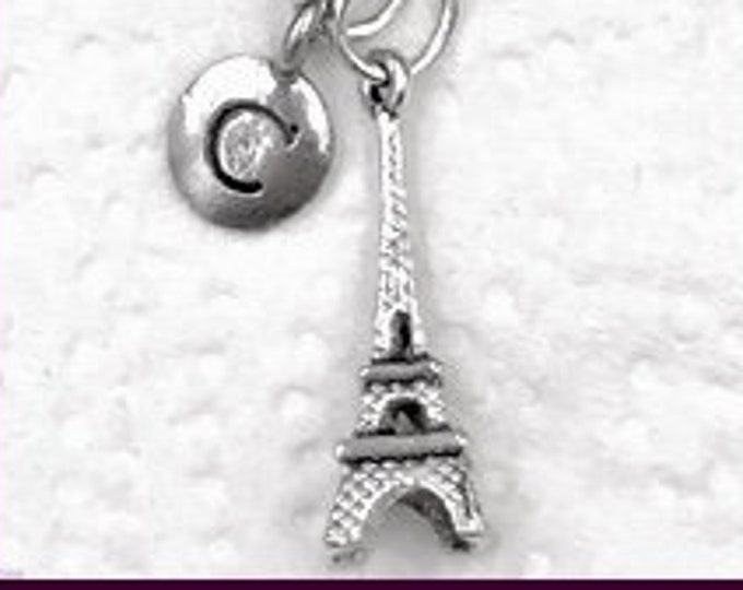 Eiffel Tower Necklace, Vacation Jewelry Gift, Paris France, French Teacher Gift Idea, Best Friends Popular Necklace, Personalized Travel