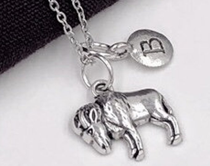 Goat Charm Necklaces, Silver Goat Jewelry, Farm Animal, Veterinary Gifts, Gifts for Women and Girls, Personalized Initial Jewelry