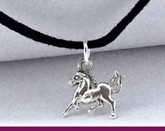 Horse choker, black chokers, charm choker, cord choker, double choker, thin choker, boho choker, popular 90's retro choker, horse necklace