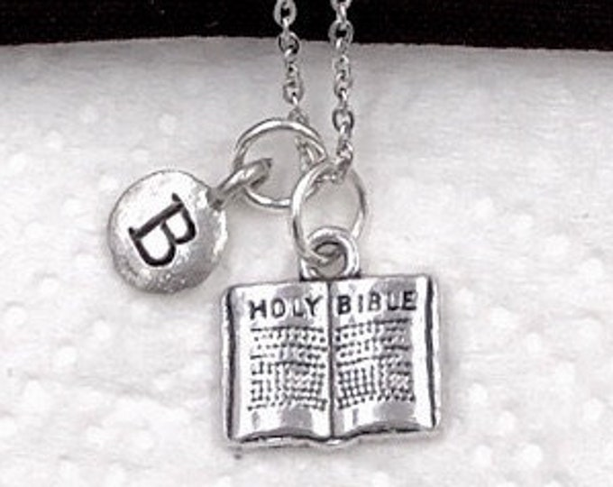 Christian Necklace, Women and Girl Christian Jewelry Gift, Bible Necklace, First Communion Necklace, Popular Religious Necklace Personalized