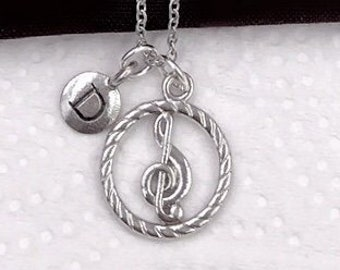 Music Necklace, Music Jewelry Gift, Music Lover, School Band Club Members Gift, Singing Coach, Musical Note, Popular Necklaces, Personalized