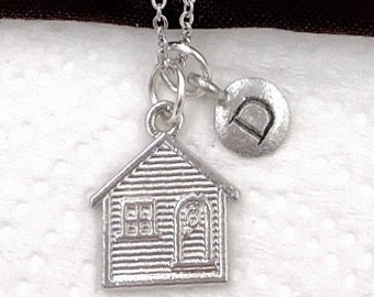 House Necklace, House Jewelry, House Gift Ideas, Women and Girls Personalized Necklaces, Silver Charm Necklace, New House Jewelry Gift Ideas