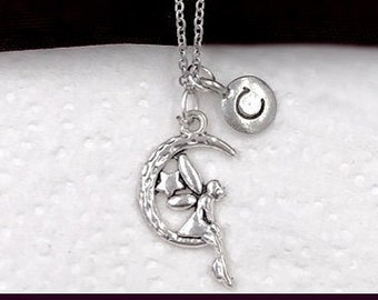Fairy Necklace, Princess Jewelry, Birthday Party Gifts For Women and Girls, Children's Jewelry, Personalized Birthstone and Initial Necklace