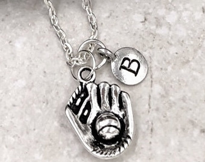 Baseball Necklace, Baseball Jewelry, Baseball Gift Ideas, Women and Girls Personalized Necklaces, Silver Charm Necklace, Sports Jewelry Gift