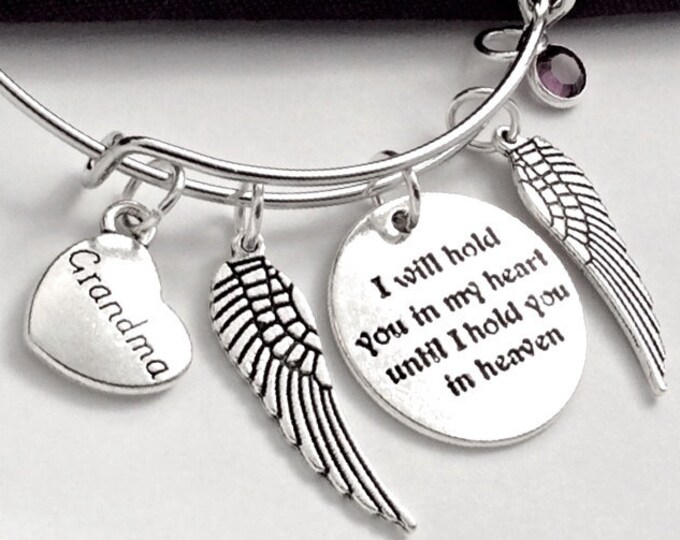 Silver Memorial Bracelet Jewelry Gifts for Women and Girls, Includes a Sterling Silver Birthstone and 15 Family Heart Charms to Choose From