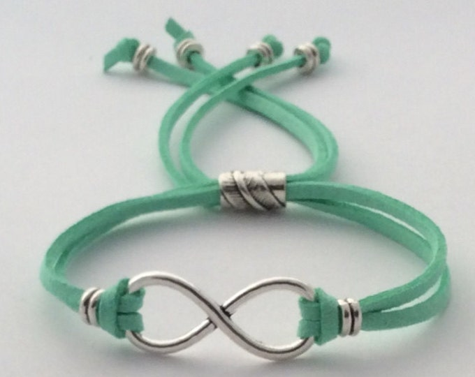 Friendship bracelet, wedding jewelry bracelet, infinity women's jewelry, silver infinity bracelet, eternal love, popular forever charm.