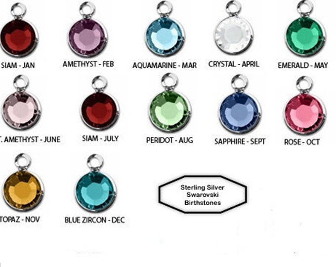 Sterling Silver Swarovski Birthstone Add On's For Any Jewelry Order From Urban City Treasures