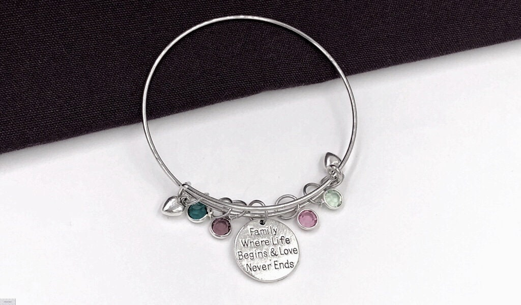 Mom Bracelet Mother S Day Gift Mom Gift Personalized Birthstone