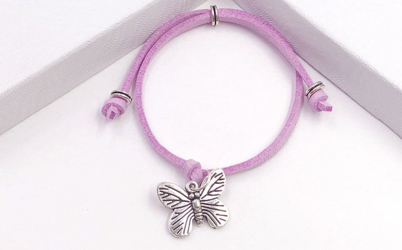 Available in 20 Different Vibrant Colors. Butterfly Summer Cord Bracelet or Anklet Great Jewelry Gift Idea for Women and Girls