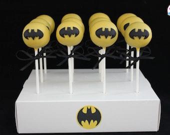 Batman Themed Cake Pops