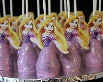 Rapuzel Themed Gourmet Cake Pops