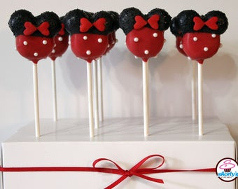 Minnie Mouse Red Gourmet Cake Pops