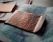 Copper Money Clip, Textured Money Clip, Rustic Money Clip, Distressed Copper, Personalised Gift