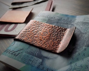 Copper Money Clip, Textured Money Clip, Rustic Money Clip, Distressed Copper, Bill Fold, Personalised Gift, Mens Gift, Anniversary, Birthday