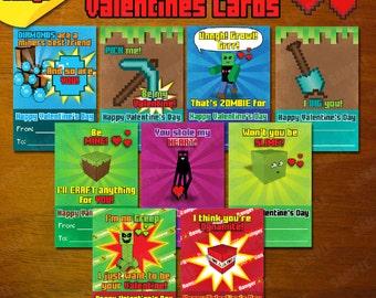 Minecraft Valentine Etsy