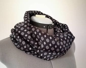 Men's scarf, infinity scarf for men, crew neck, men's black scarf, men's loop, men scarf, gift for him, ring scarf