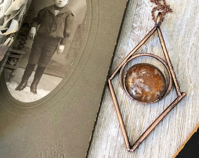Garden Quartz Crystal Necklace Included Quartz Crystal Pendant / Crystal Jewelry