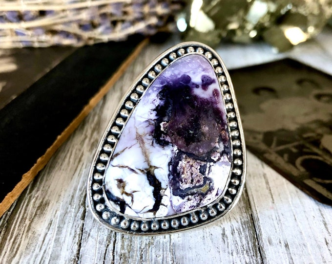 Size 8 Sterling Silver Tiffany Stone Statement Ring  / Curated by FOXLARK Collection