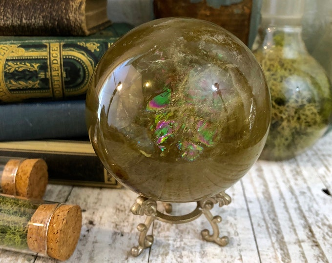 Crystal Ball Natural Untreated Citrine Crystal Sphere