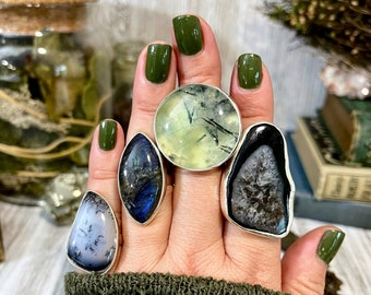 SIZE Adjustable - FLASH SALE - Curated by Foxlark Rings ( 07-24-2021)