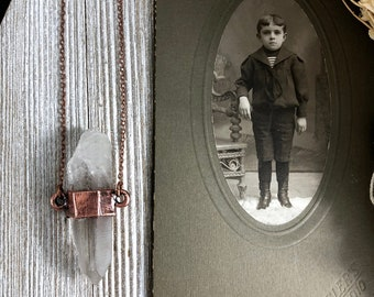 Boho Necklace / Raw Crystal Necklace