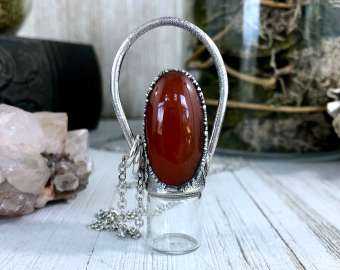 Essential Oil Rollerball Necklace Red Carnelian Necklace