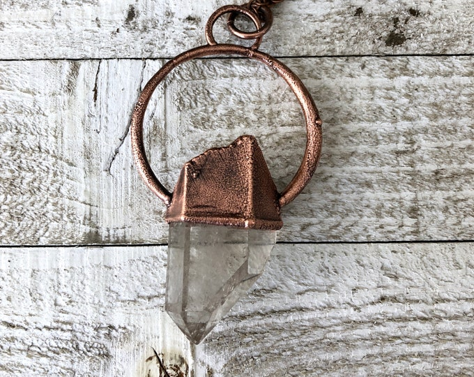 Large Boho Necklace / Raw Crystal Necklace