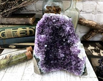 Raw Amethyst Crystal Cluster Large Amethyst Geode