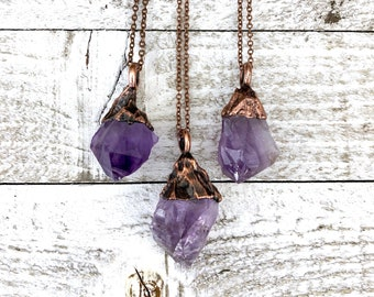 Raw Amethyst Necklace Small Crystal Necklace