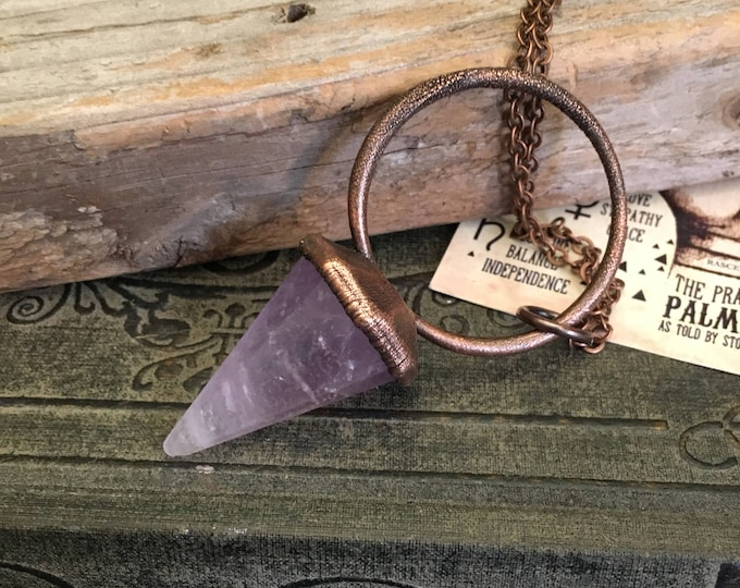 Crystal Jewelry / Amethyst Pendulum Necklace / Amethyst Necklace Witchy jewelry
