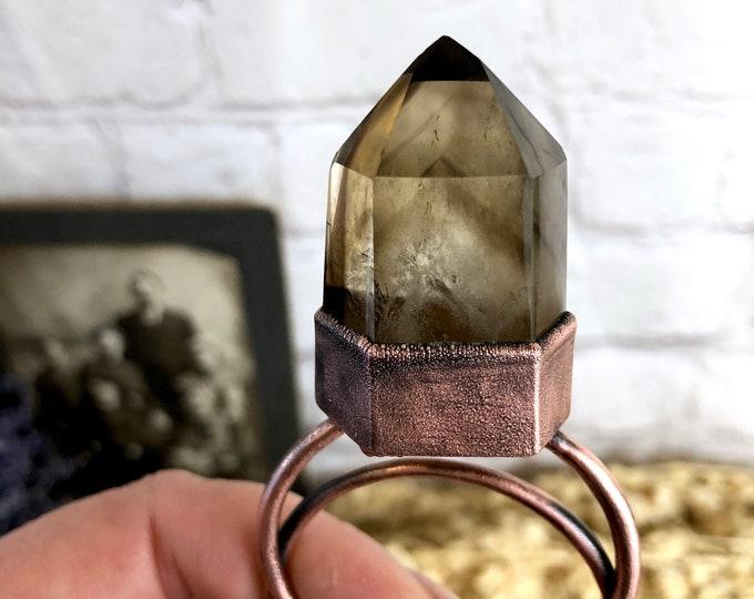 Phantom Smoky Quartz Crystal Necklace Pendant