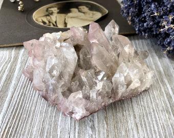 Natural Raw Lithium Quartz Crystal Cluster
