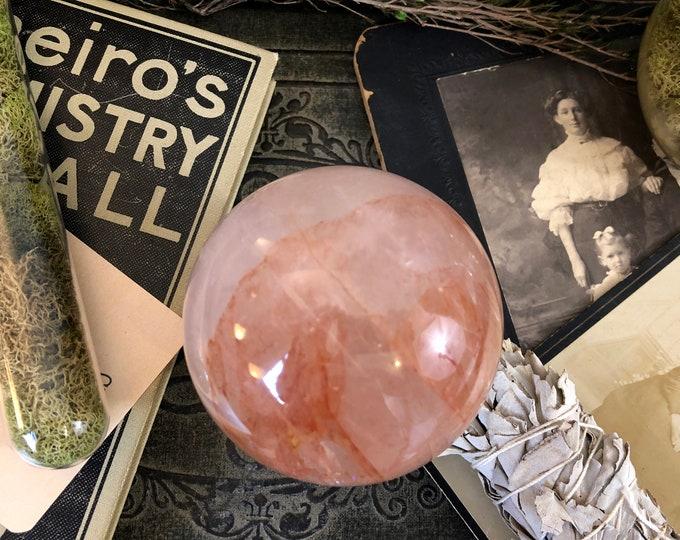 Crystal Ball Hematoid Quartz Natural Crystal Sphere