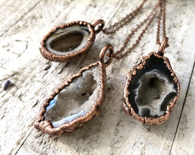 Crystal Necklace Agate Geode Necklace