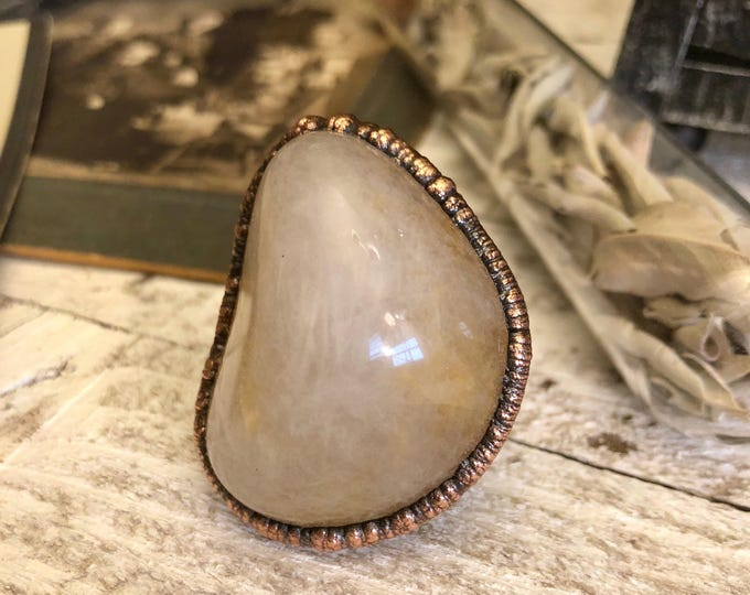 Jasper Ring Large Stone Statement Ring / Size 8 NJ Jasper Natural Stone Ring