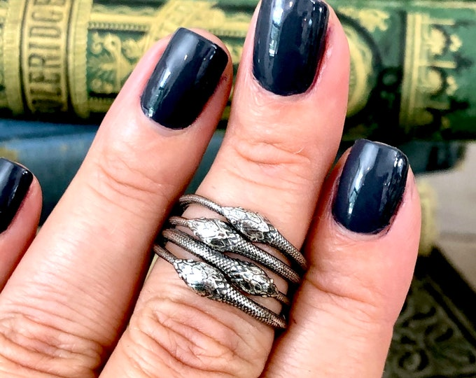 Ouroboros Snake Ring in Sterling Silver / Curated by FOXLARK Collection
