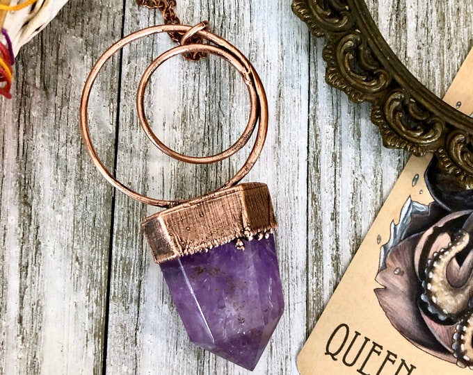 Large Amethyst Crystal Necklace Pendant
