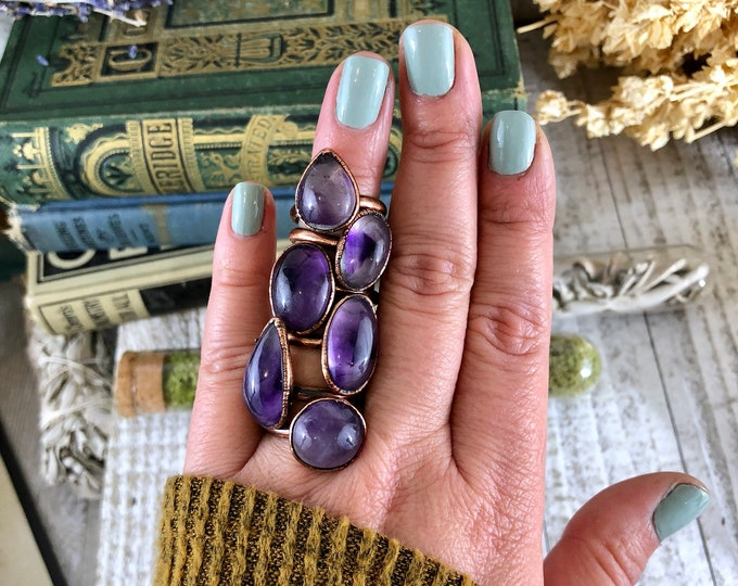 Phantom Amethyst Ring Size 6 7 8 9 Crystal Ring / Small Crystal Ring