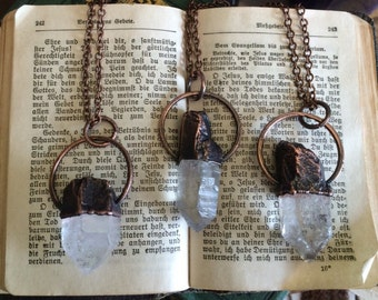 Raw Crystal Necklace  Raw Quartz  Jewelry Healing Crystal Pendant  Bohemian Necklace  Gypsy Necklace Raw Crystal Jewelry Bohemian gift idea