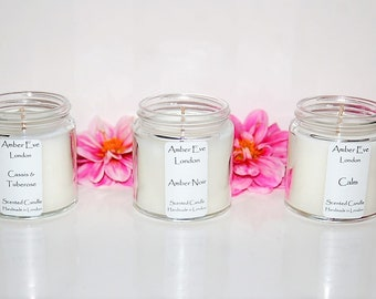 White Musk & Amber Candle with a silver lid